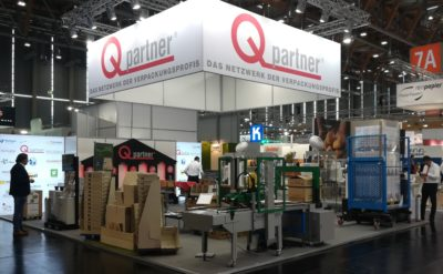 Qpartner Messestand Fachpack